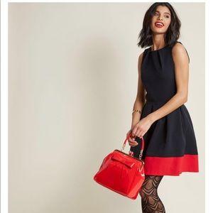 Closet for Modcloth A Line Black and Red Dress